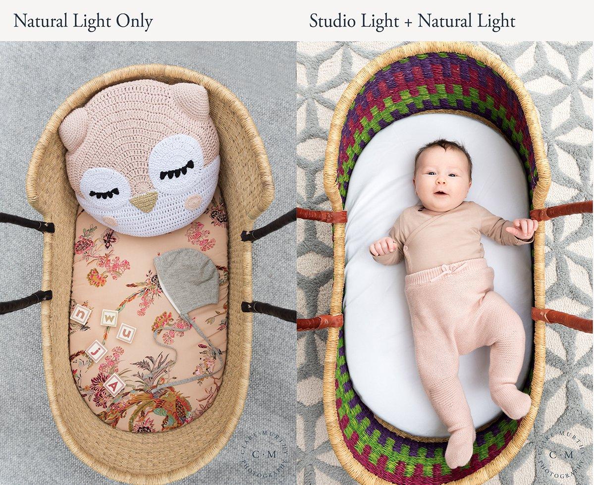 natural light vs studio light photography