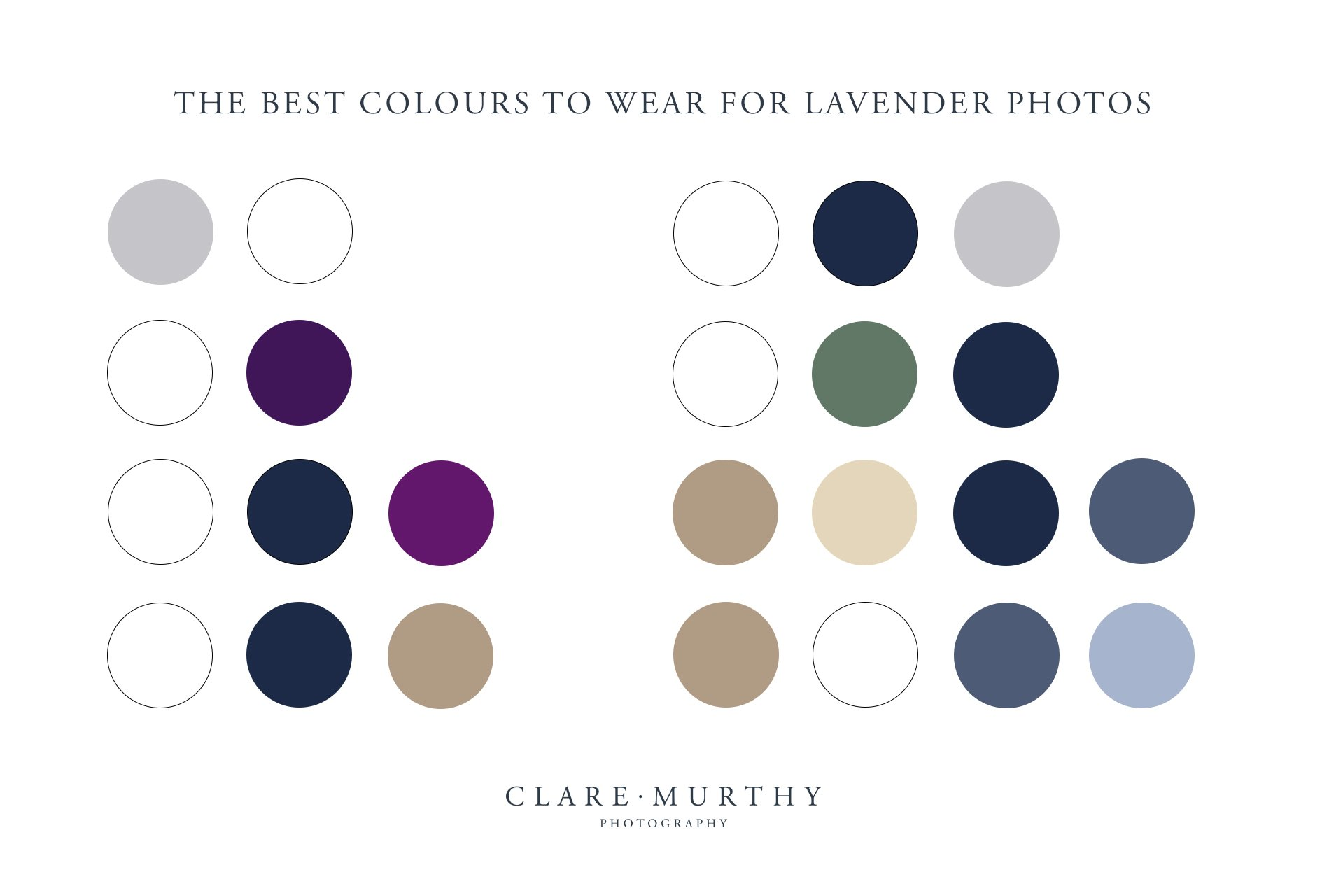 what to wear for a lavender photo shoot