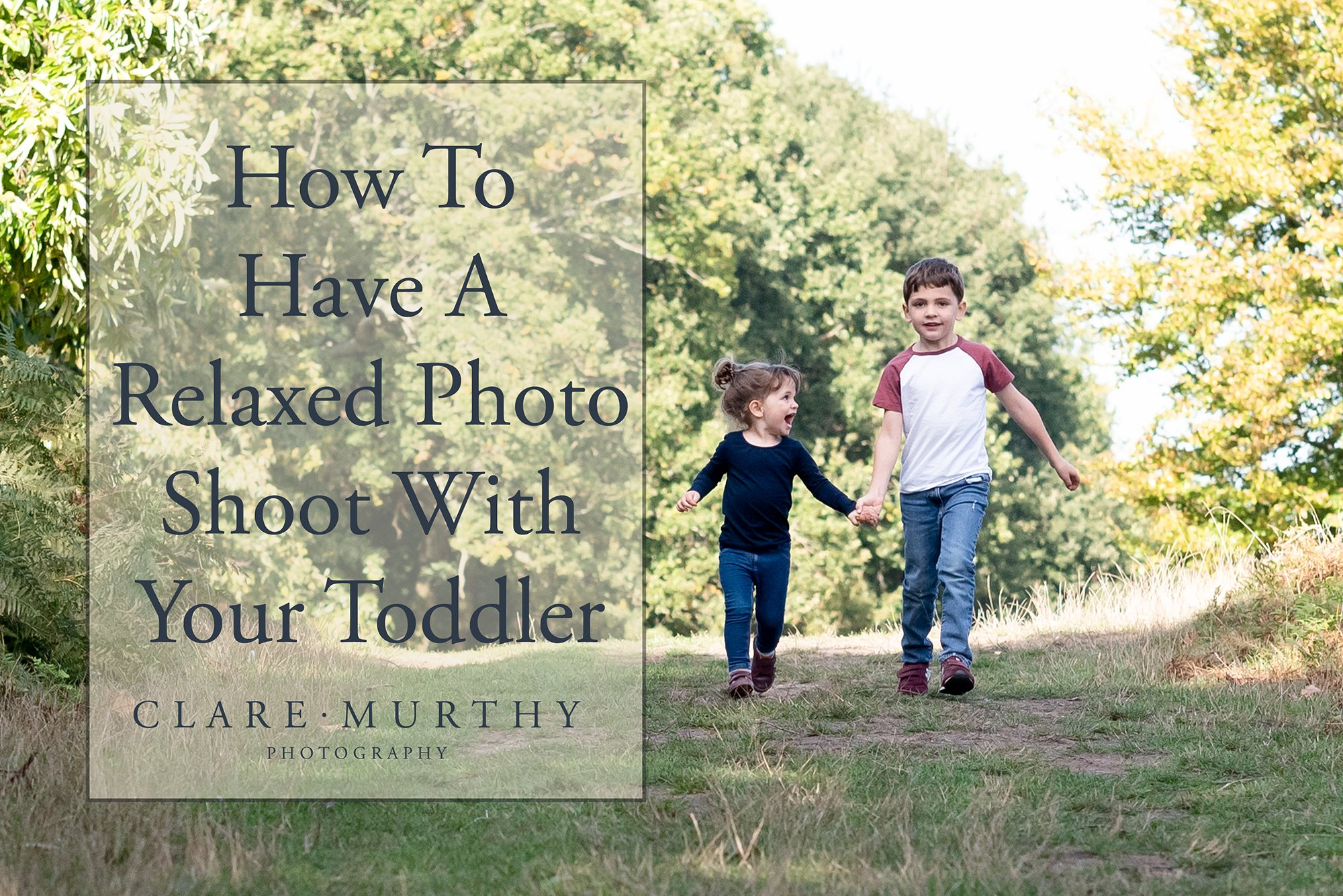 relaxed photo shoot toddler
