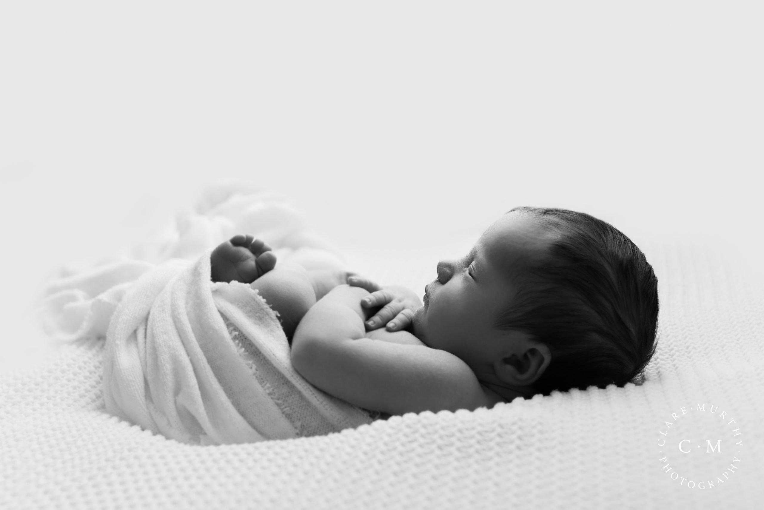 black and white newborn photography london